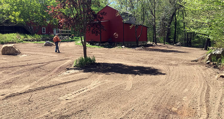 A nicely graded area that Grenco smoothed out after the installation of a septic system and excavation